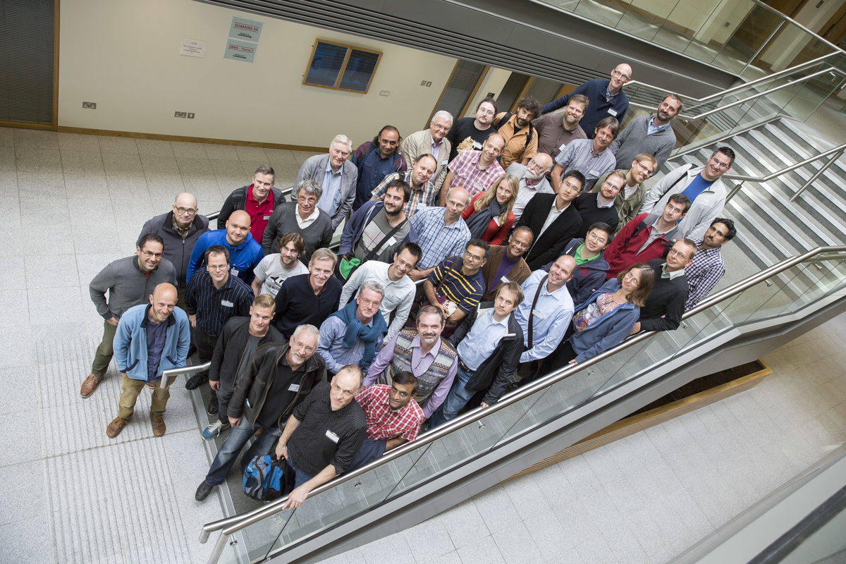 Academics attending the George Boole Mathematical Sciences gathering at UCC, August 2015.