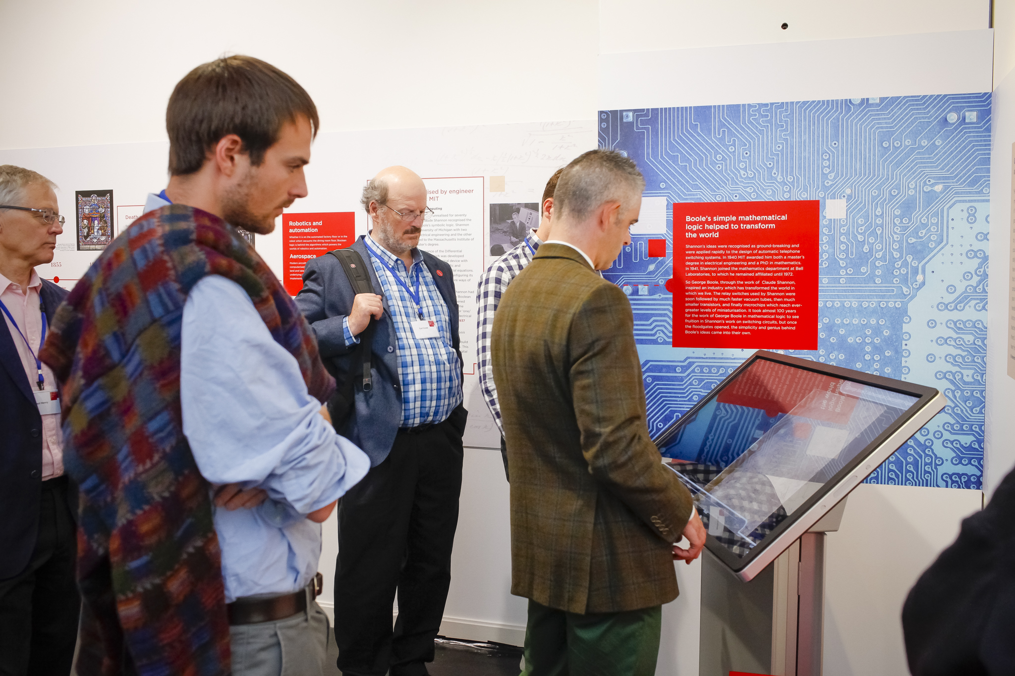 Guests at the launch of the Boole Library exhibition, The Life & Legacy of George Boole