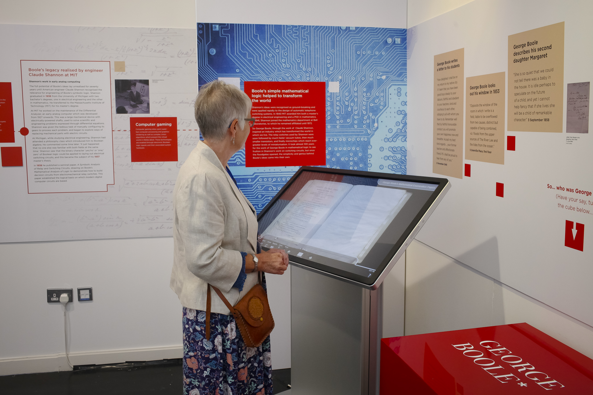 An interactive, engaging digital exhibition in the Boole library highlighted his contributions to modern digital technology.