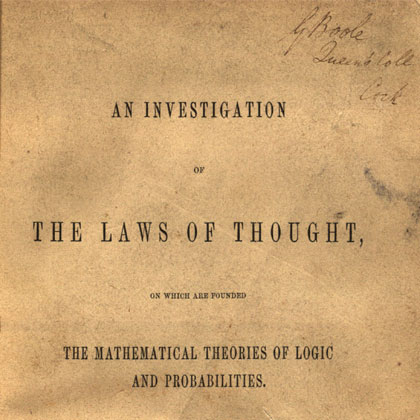 An Investigation of the Laws of Thought, First Edition