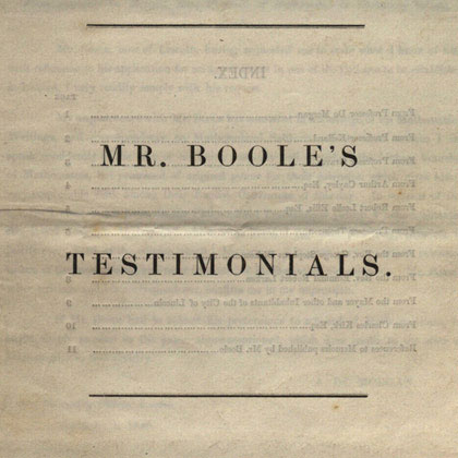 The George Boole Collection