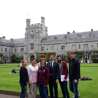 MIT exchange students at UCC, July 2015